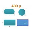Bâche àbulle luxe standard 400µ bleu/bleu