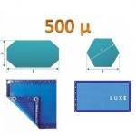 Bâche à bulle hors standard 500µ bleu /bleu : 4 cotés