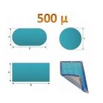 Bâche à bulle piscine standard 500µ bleue / argent