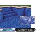 Liner piscine 75/100ème imprimé 3010 - marbré bleu vernis