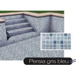 Liner piscine 75/100ème persia gris-bleu