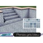 Liner piscine 75/100ème 3010 persia gris bleu vernis