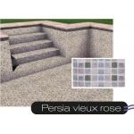 Liner piscine 75/100ème persia vieux rose
