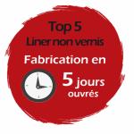 Liner piscine 75/100ème uni délais Express : CHRONO LINER