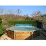 Bâche d'hiver Securitis Hors Sol piscine bois