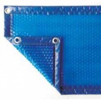 Bâche àbulle luxe : 4 cotés standard 400µ bleu/bleu