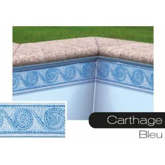 Frise pour liner piscine Carthage bleu