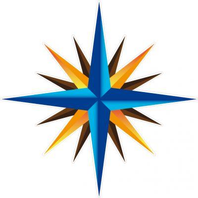 Décoration auto-collante étoile de vent