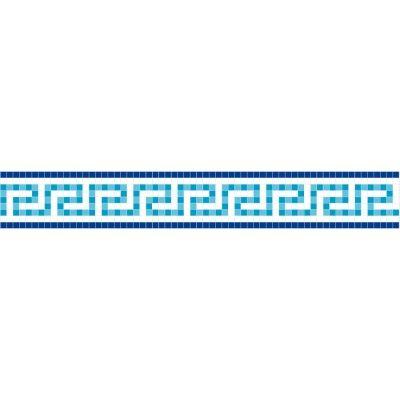 Frise piscine auto-collante Odyssée bleu 14 cm x 5 m