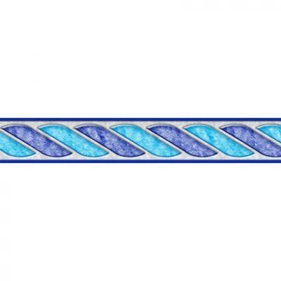 Frise piscine auto-collante Céleste 14 cm x 5 m