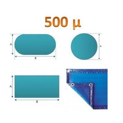 Bâche à bulle standard 500µ bleu /bleu