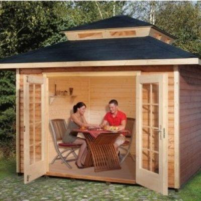 Abri jardin en bois MEDITERRANA avec surélévation de toit - WEKA