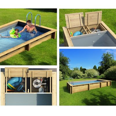 Piscine bois Pool'n Box 6,2x2,5, GR ,Ht: 133