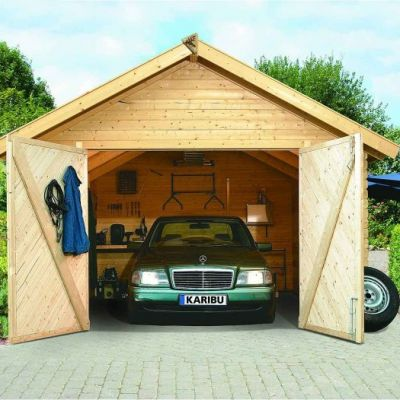 Carport bois garage 40 mm - KARIBU