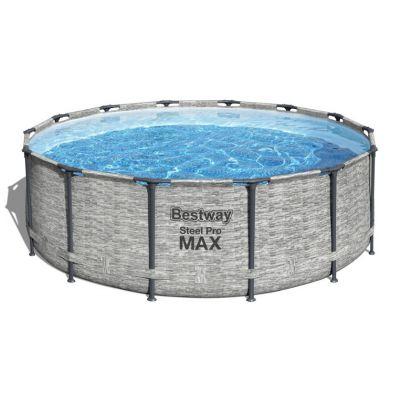 Piscine Bestway Steel pro Max pierre grise : 427 x 122 cm