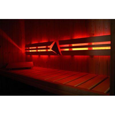 Eclairage sauna pour paroi arrière