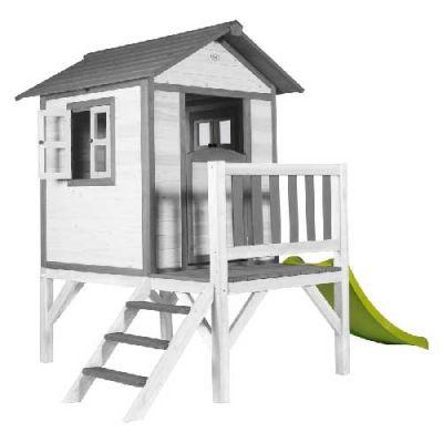 Cabane pour enfant Lodge XL Grise Blanche  - Sunny
