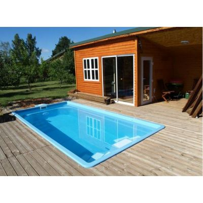 Piscine en coque BOSTON : 500 cm x 265 cm x 140 cm