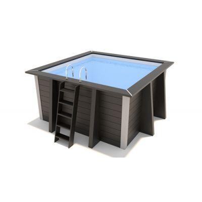 Piscine composite carrée Ed'line Pool : 3.11 x 3.11 x 1.20 m