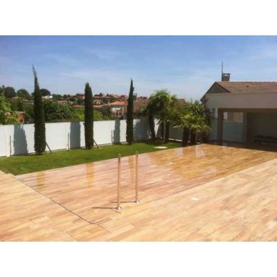 Fond mobile intégré pour piscine (en construction)