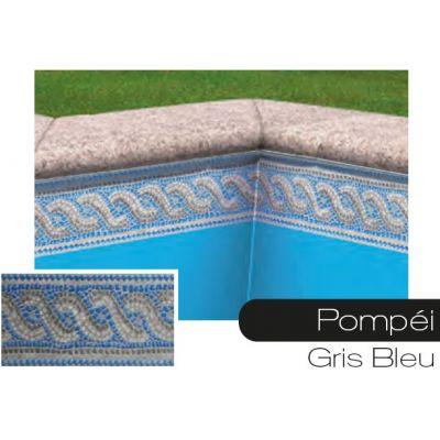 Frise pour liner piscine Pompei gris-bleu