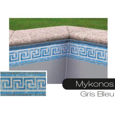 Frise pour liner piscine Mykonos gris-bleu