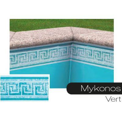 Frise pour liner piscine Mykonos vert