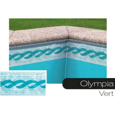 Frise pour liner piscine olympia vert