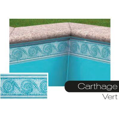 Frise pour liner piscine Carthage vert