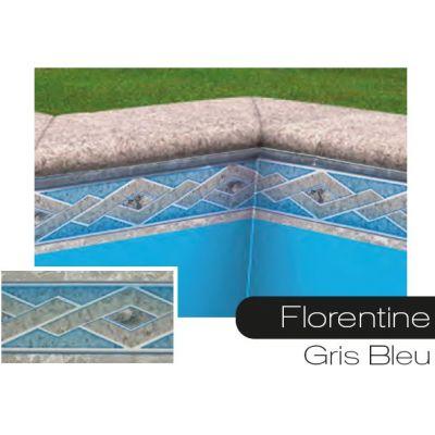 Frise pour liner piscine Florentine gris-bleu