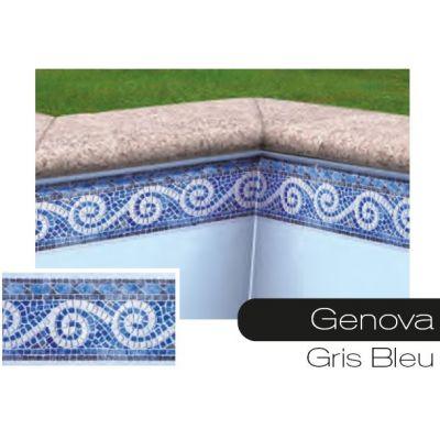 Frise pour liner piscine Genova gris-bleu
