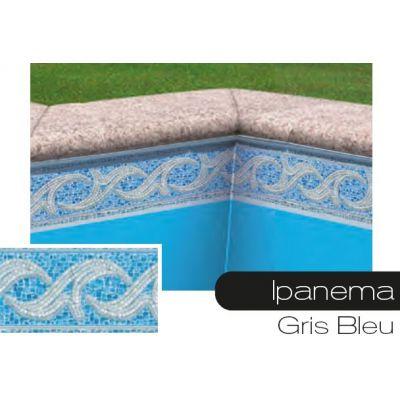 Frise pour liner piscine Ipanema bleu-gris