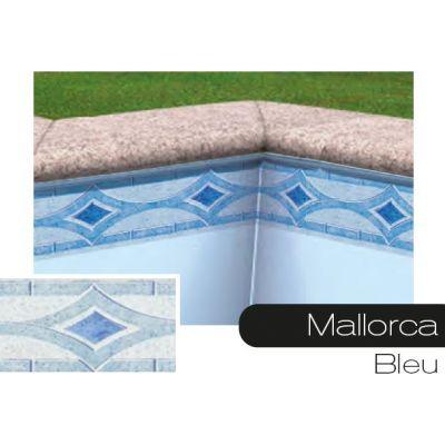 Frise pour liner piscine Mallorca bleu