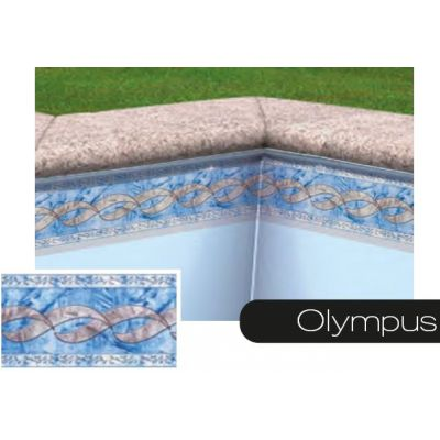 Frise pour liner piscine olympus bleu-gris