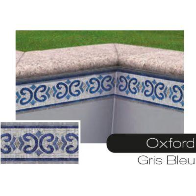 Frise pour liner piscine Oxford gris-bleu