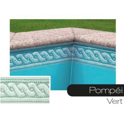Frise pour liner piscine Pompei vert