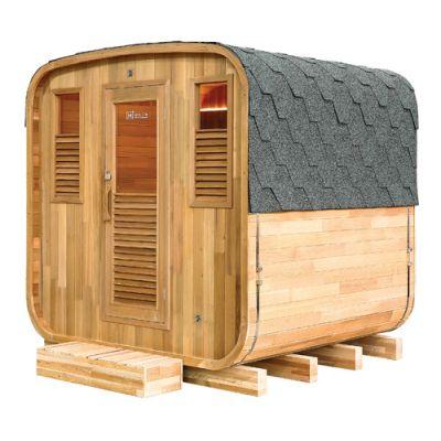 Sauna d'extérieur tonneau GAIA Nova
