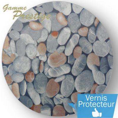 Liner piscine 75/100ème imprimé 3010 - nature galet vernis