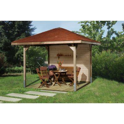 Tonnelle de jardin en bois PARADIES tailles 1 et 2 - WEKA