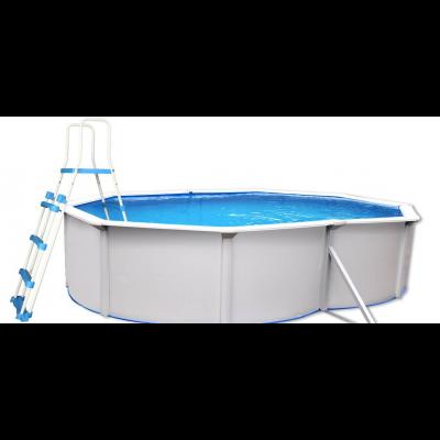 piscine hors sol acier ovale PREMIUM 4.90 x 3.60 x 1.20 m