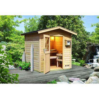 Sauna extérieur toit pente Lasse - Karibu