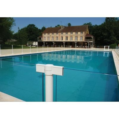 Cloture piscine transparente Swim Park SP03 en verre 8 mm