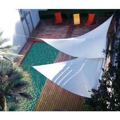 Voile d'ombrage triangulaire écru 5.00 x 5.00 x 5.00 m