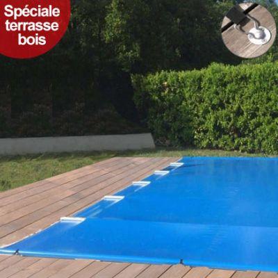 bâche à barres piscine Aquaprotect CLASSIC BOIS