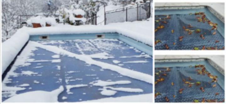 Bâche à hiver piscine