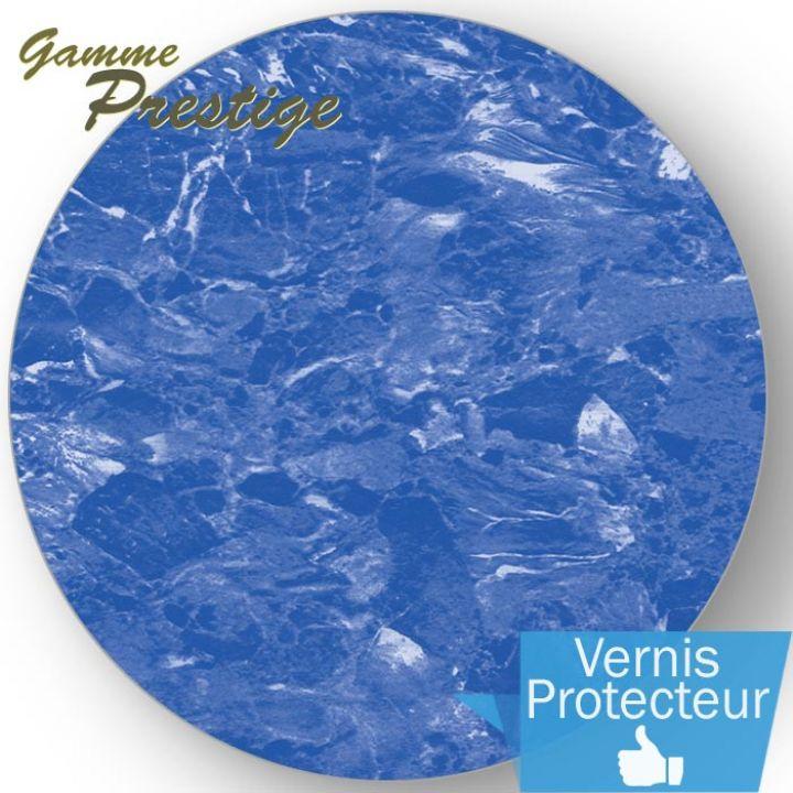 Liner piscine 75/100ème imprimé 2015 - marbré bleu vernis