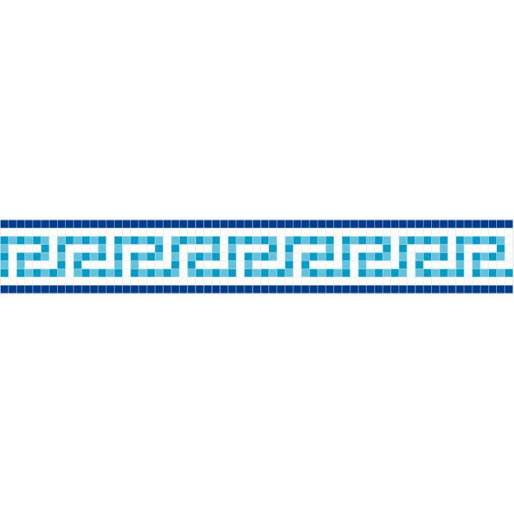 Frise piscine auto-collante Odyssée bleu 24 cm x 5 m