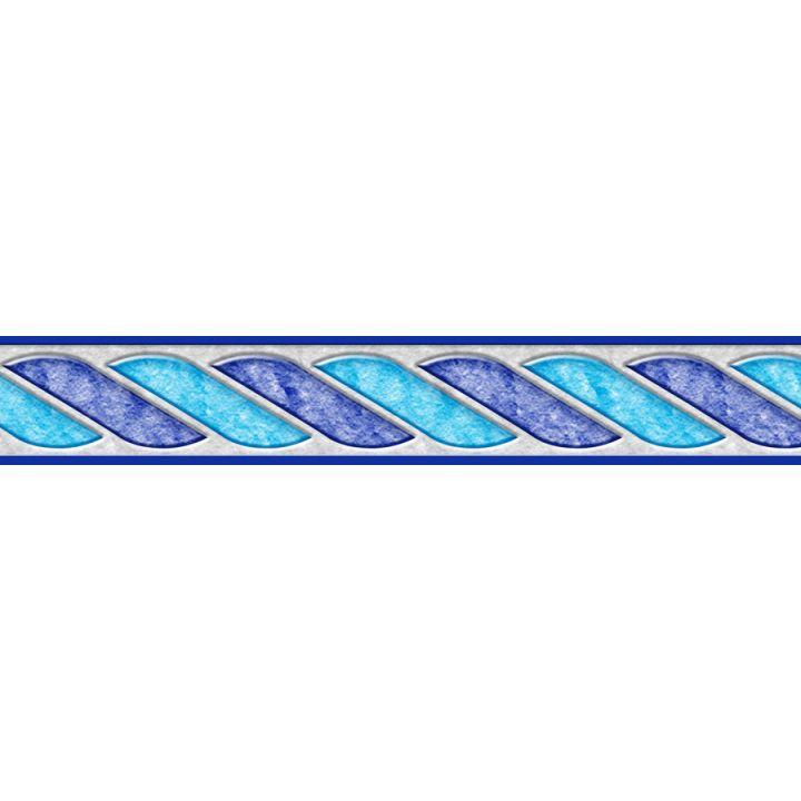 Frise piscine auto-collante Céleste 24 cm x 5 m