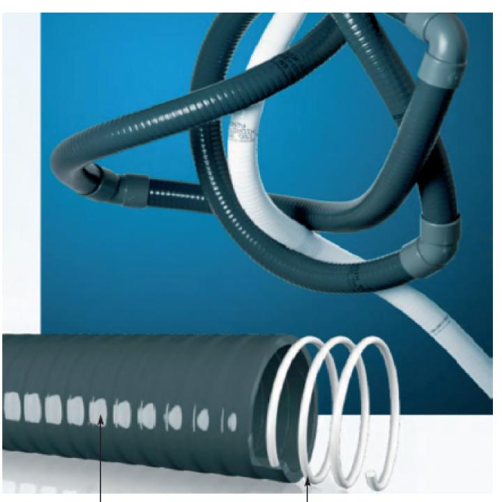 Couronne de 25 m de tuyau PVC souple diam 63 - Distripool