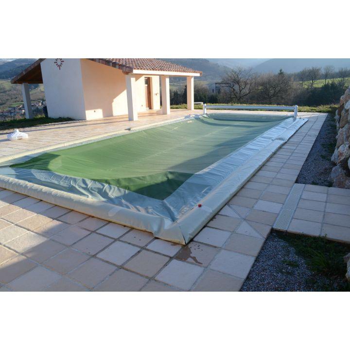Bâche d'hiver piscine à boudins d'eau
